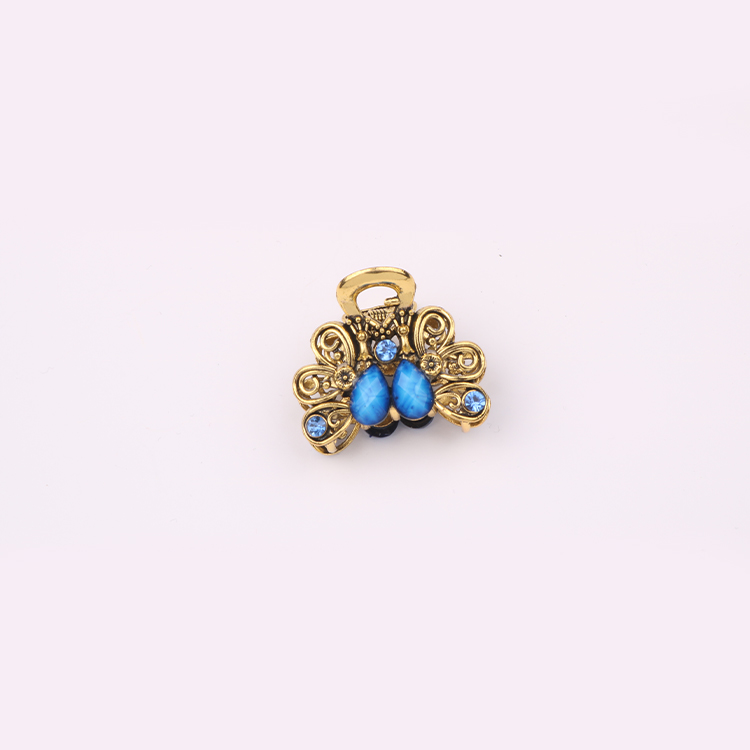 SAF Luxury Design Resin Jaw Clips Wholesale YiWu Fashion Gold Plated Crystal Hair Claws For Women