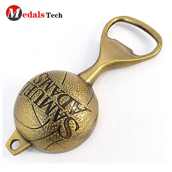 3d Europe soccer shape  beer festival tourist souvenir metal refrigerator magnet with bottle opener
