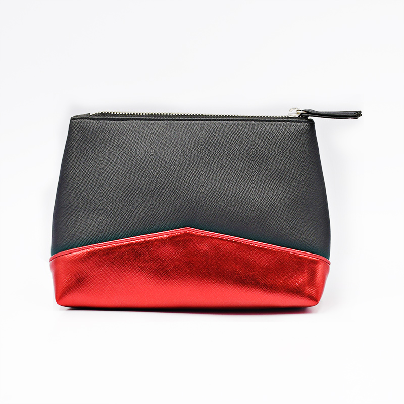 luxury travel makeup toiletry recycle leather cosmetic bag