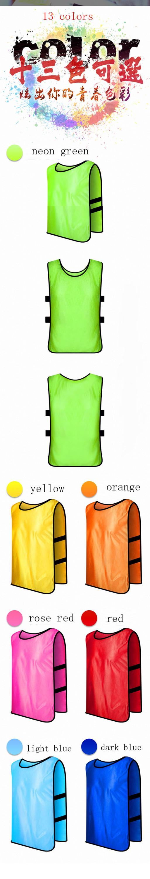 Custom  Vests DIY soccer vests  for competitive training of soccer vest  in cheap price for Kids and Adults