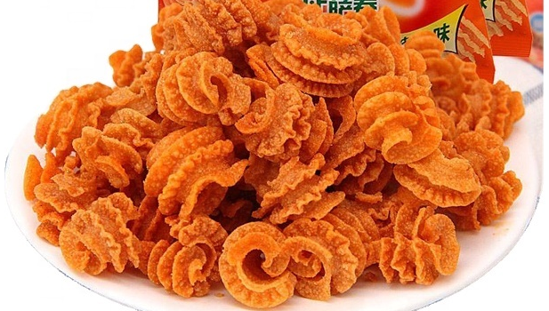 Bugle chip snack food processing machine double screw fried snacks extrusion machine