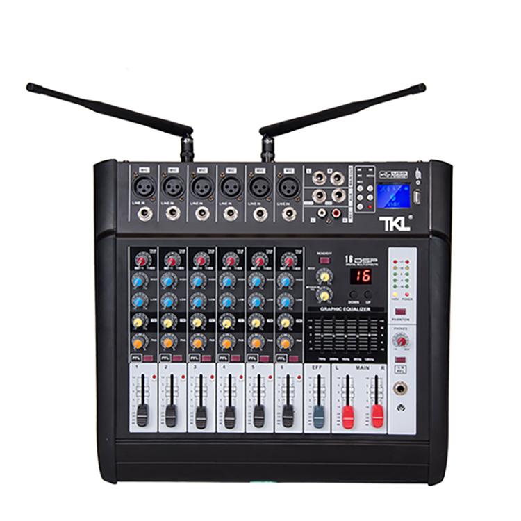 TKL 6 ช่อง MINI DIGITAL AUDIO Mixer เครื่องขยายเสียงสำหรับ Conference RECORDING เสียงผสมเวทีคาราโอเกะบลูทูธ