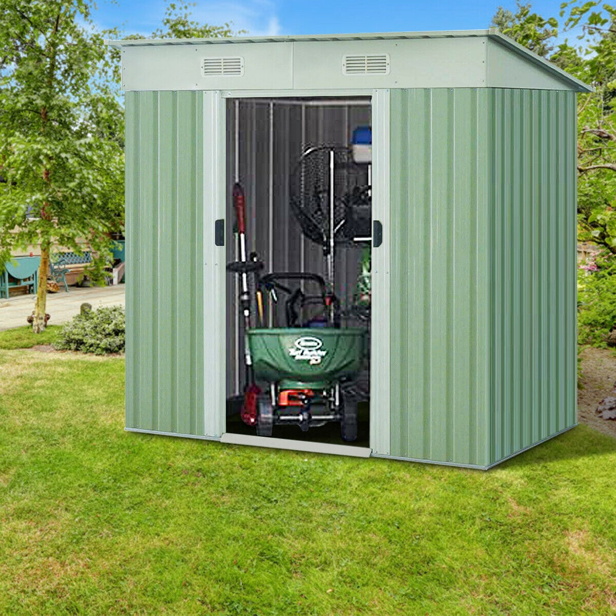 outdoor storage shed garden house