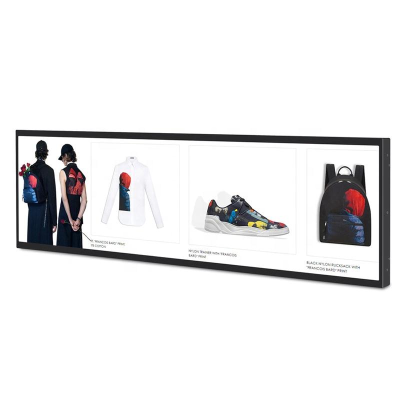 21inch for 60cm retailer shelf bracket mount Strip bar digital advertising display