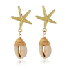 simple fashion Personality Contracted women Jewelry shell drop earrings