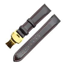 Ремешок для часов из натуральной кожи, 18 мм, блестящая лакированная кожа, пряжка-бабочка, для женщин, новейший Шарм, ремешок для часов tissot T035(Китай)