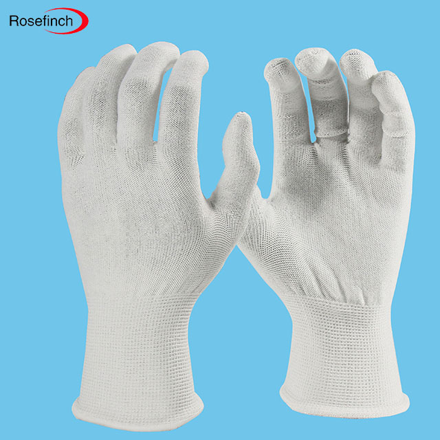 Light industry application Working Gloves, Knitted Safety Anti Cut Hand Gloves, Nylon knitted gloves