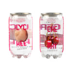Alcoholic Drink Lychee Fruit Flavour Non Alcoholic Transparent Can Carbonated Soft Drink
