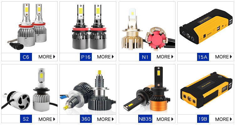 High Power Auto S2 H4 Led Koplamp Cob Auto H1 H7 H3 H11 Led Koplamp Lampen 72W 8000LM Led koplamp