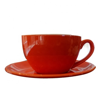 High End Orange Non Slip Insulation Ceramics Coffee Mug