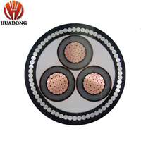 OEM SASO Certification 26/35kv Underground cable HV YJV 400mm2 Insulation Steel Wire Armoured XLPE Swa Pvc Cable price
