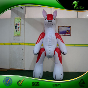 Inflatable Fox Costume Hongyi Inflatable Walking Animal Suit Air Blowen Body Inflation Suit