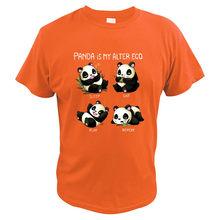 Футболка с пандой и надписью «My Alter Ego»; Повседневная футболка с милым животным принтом «Спящая еда»; Одежда с цифровым принтом; Лучший подар...(Китай)