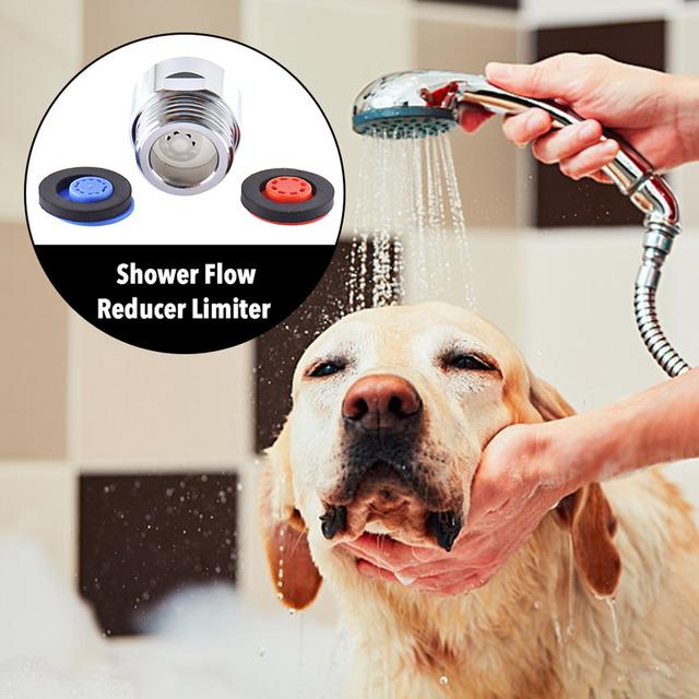 Valve Set Water Saver Device Flow Reducer Limiter for Shower Head Or Handheld Shower 4 Pcs Water Flow Restrictor Combo Set