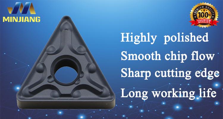 Trung quốc TNMG 160404 carbide quay chèn với MA chipbreaker cho thép