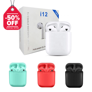 On Sale 50% Off I12Tws Original Mini Audifonos Bluetooth 5.0 Wireless Earpoding Airpoding I12 Tws Earphone Earbuds