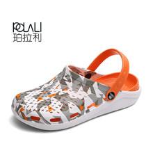 2020 г., летние женские сандалии дышащая пляжная Мужская обувь для отдыха на открытом воздухе, открытые сабо, легкие шлепанцы для плавания(Китай)