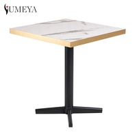 Modern high quality HPL Marble surface restaurant coffee shop dining table