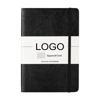 Custom promotional pu leather cover A5 diary notebook with logo