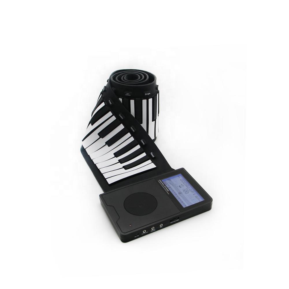 88 คีย์เปียโนซิลิโคนคีย์บอร์ดแบบพกพาอิเล็กทรอนิกส์ Roll Up เปียโนลำโพงในตัวและฟังก์ชัน transpose