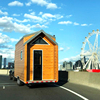 Prefabricated modern Australia New Zealand standard Tiny House on wheels with trailer caravan mobile house