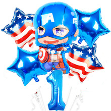 2020 super hero <span class=keywords><strong>Folie</strong></span> Luftballons Geburtstag Partei liefert Kinder junge Spielzeug balony Super hero Globos Avenger anzahl 1 <span class=keywords><strong>ballon</strong></span>