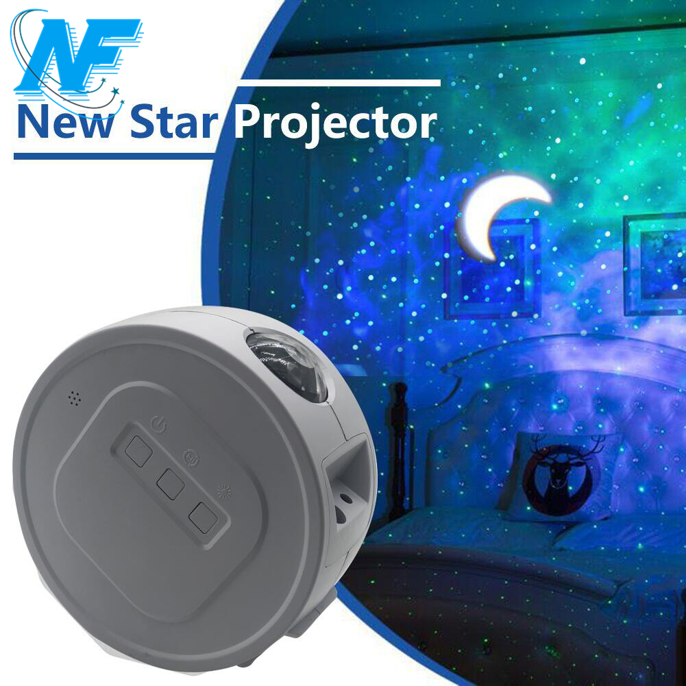 Smart Star Projector WiFi Laser Starry Sky Projector Waving Night Light Led Colorful APP Wireless Control Alexa Compatible