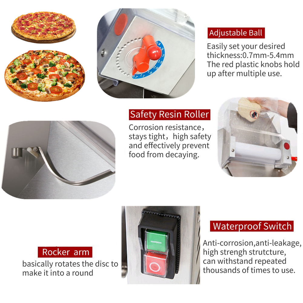 table top small mini dough roller pizza rolling machine worm wheel commercial  used automatic dough roller  in the philippines