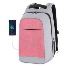 """Multi Модные женские рюкзак розовый 15,6 """"Ноутбук Anti-theft рюкзаки Для женщин школьный рюкзак для девочек Бизнес сумка(Китай)"""