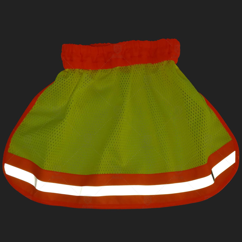 Hi-vis reflective elastic safety helmet sun shade visor for the climbing or construction hard hat neck shield protection