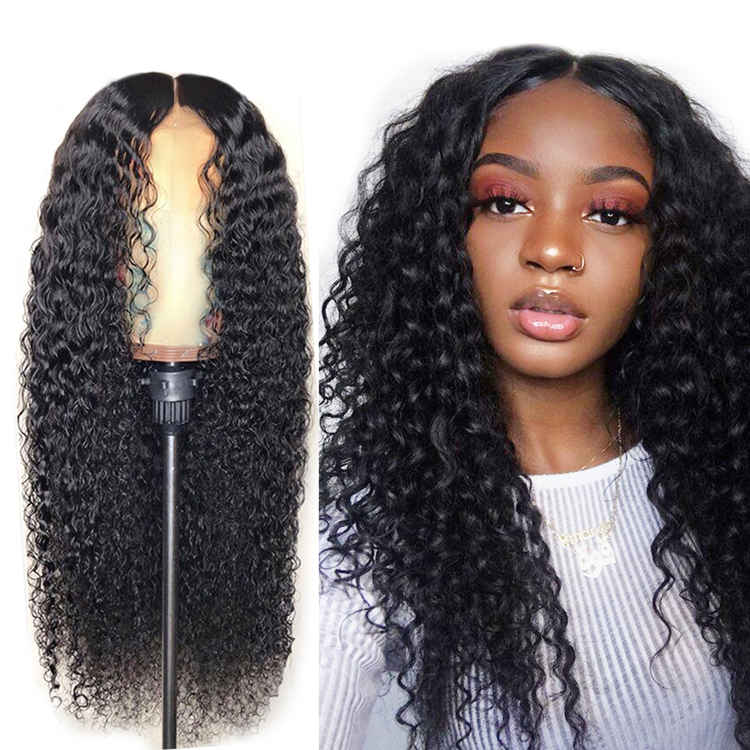 Fabriek Groothandel Afro Wave Kinky Krullend Synthetische Front Lace Pruik 24 Inch Lange Hair Extensions