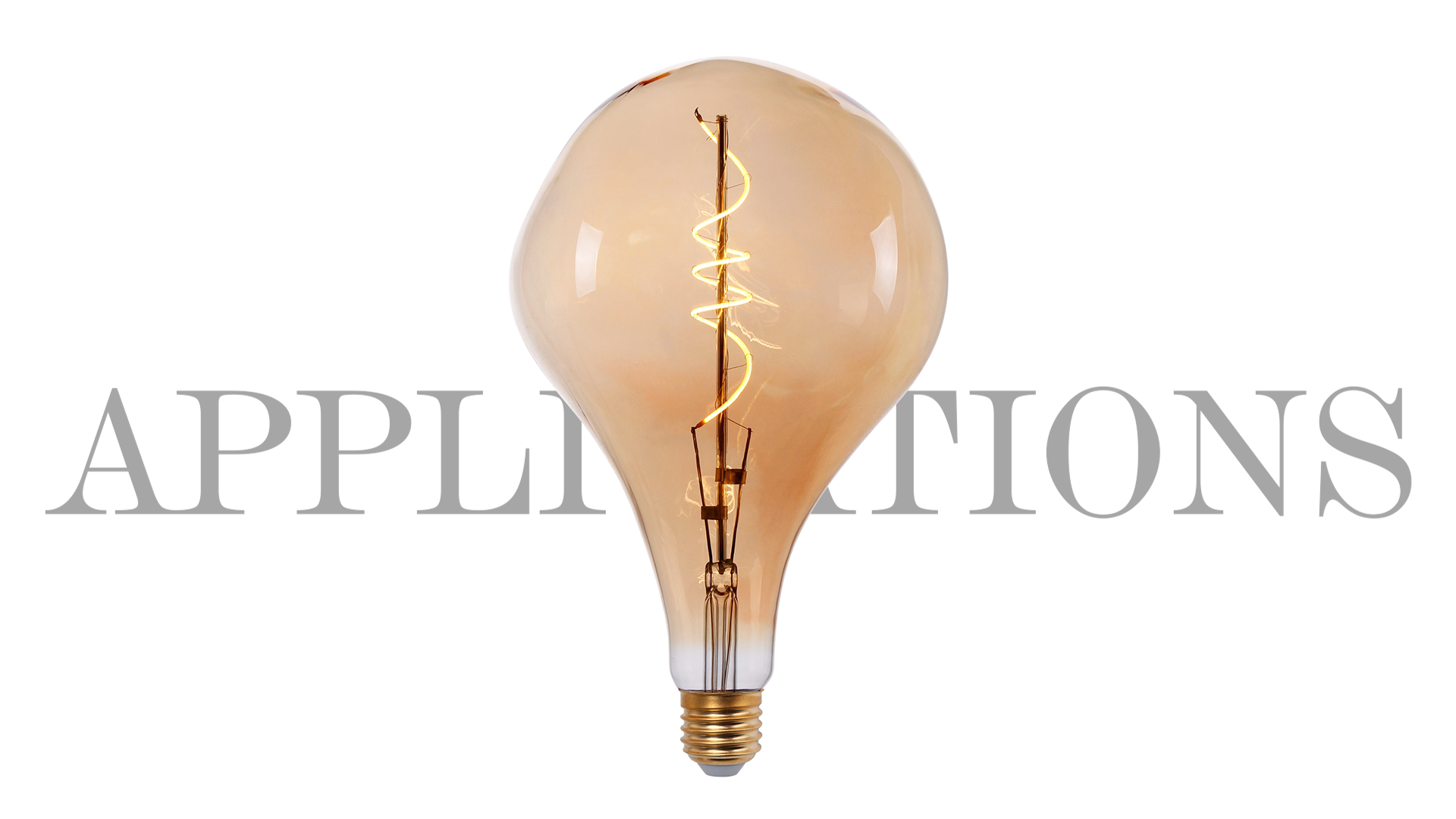 G200 PS160 BT180 4W Big Size Globe Shape Edison Vintage LED Amber Flexible Warm White E27 Decorative Oversize LED Filament Bulb