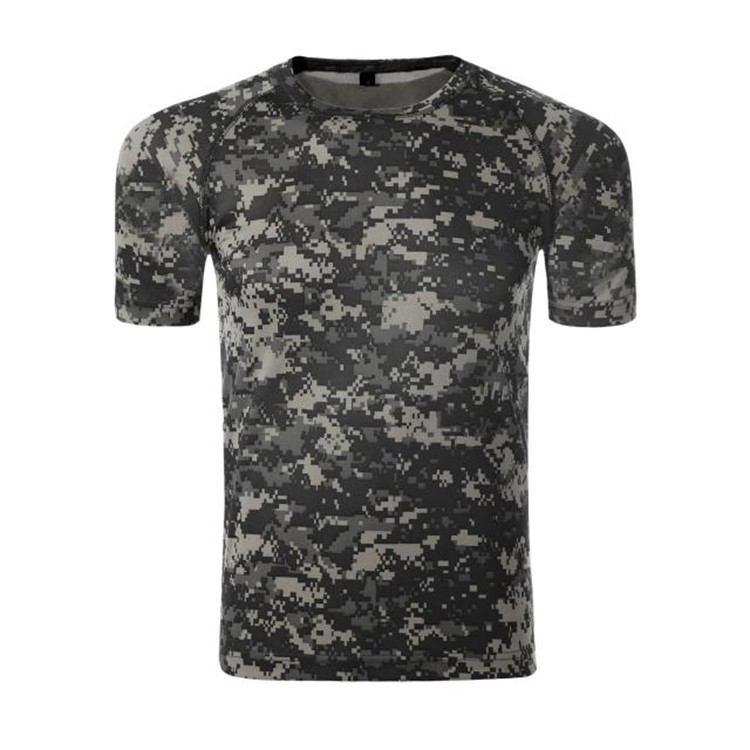 Custom cotton and spandex camo t-shirt men printing camouflage t shirt with your logo
