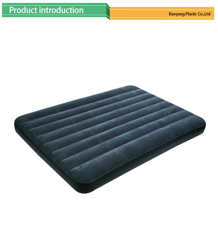 Full Size Inflatable Air Mattress Folding Flocked Double Air Bed