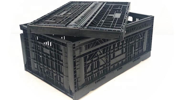 מתקפל 60L רשת stackable נע פחי פירות ירקות ארגזי פלסטיק למכירה