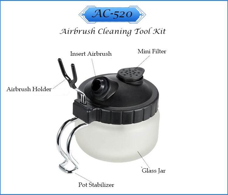LinhaivetA spray contaniers airbrush cleaning kit air brush washing needle set