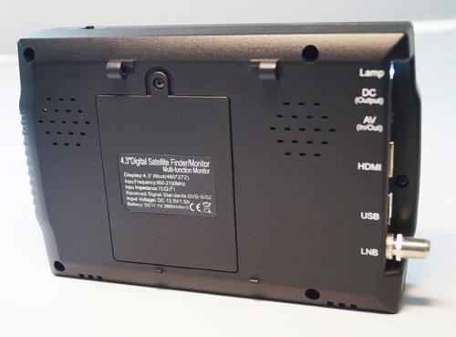 DIHAO 4.3 इंच पोर्टेबल TFT एलसीडी hd डिजिटल उपग्रह खोजक मीटर टीवी एंटीना शनि खोजक 958H