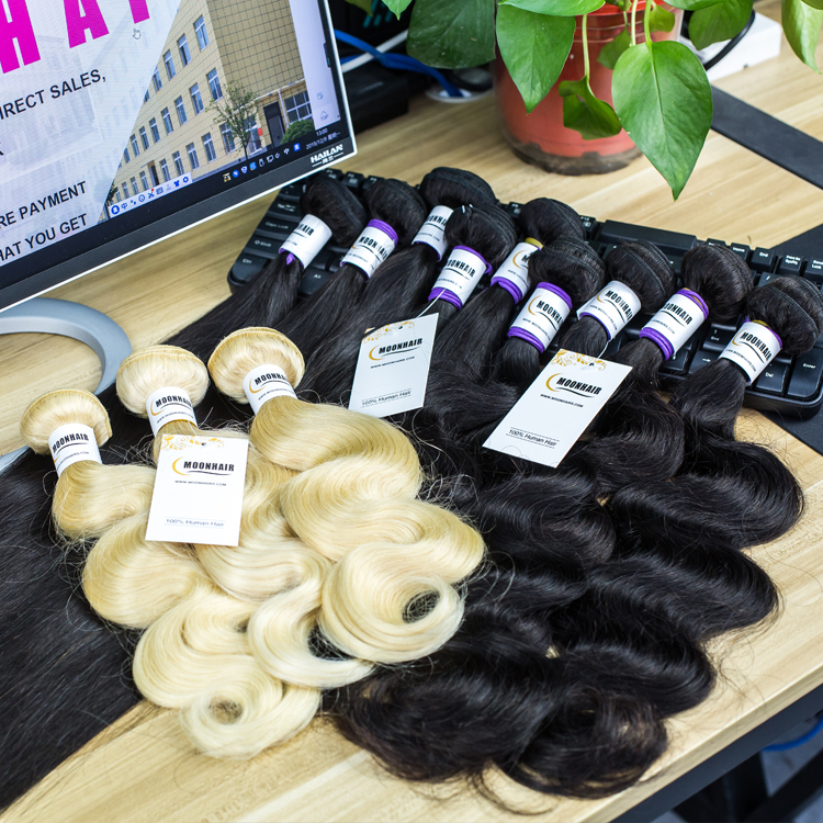 Mink Brazilian Virgin Straight Human Hair Weave Bundles With Lace Frontal