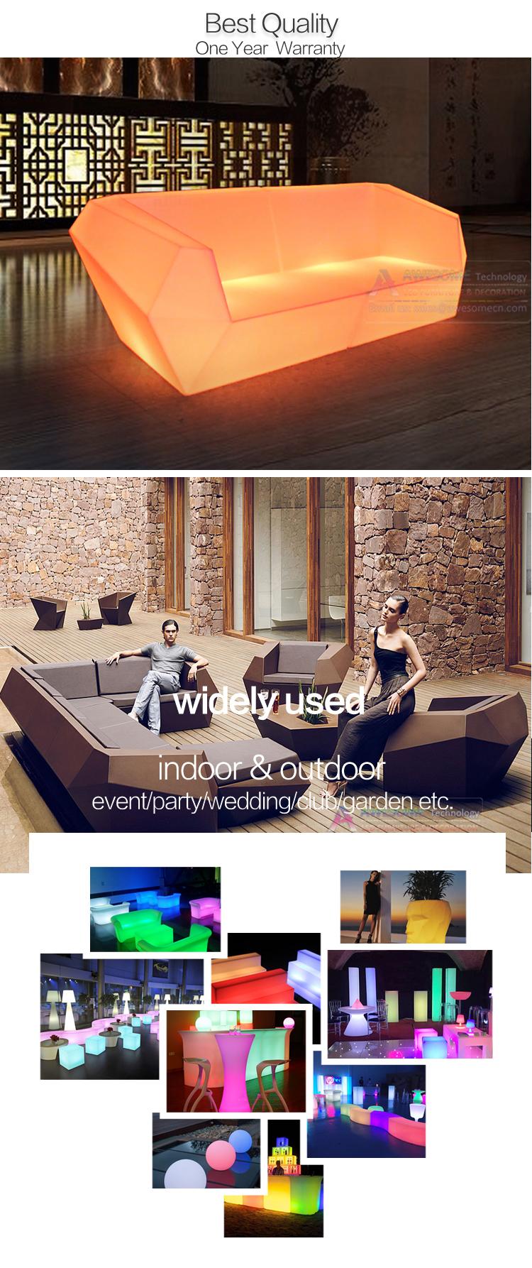 Светодиодная светящаяся мебель для ночных клубов co красивый белый диван для мероприятий (SF71)