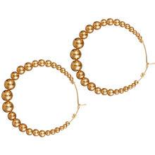 Новые серьги в виде больших кругов, креативные Ретро Простые индивидуальные серьги-кольца с искусственным жемчугом для женщин, золотые юве...(Китай)