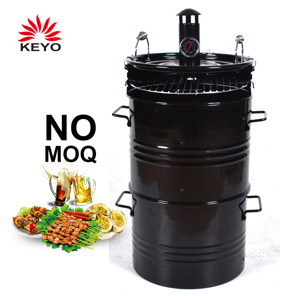 Meat Cooker Smoker Vertical Barrel Charcoal Bbq Oil Drum Barbecue Grill Charcoal Vertical Grill