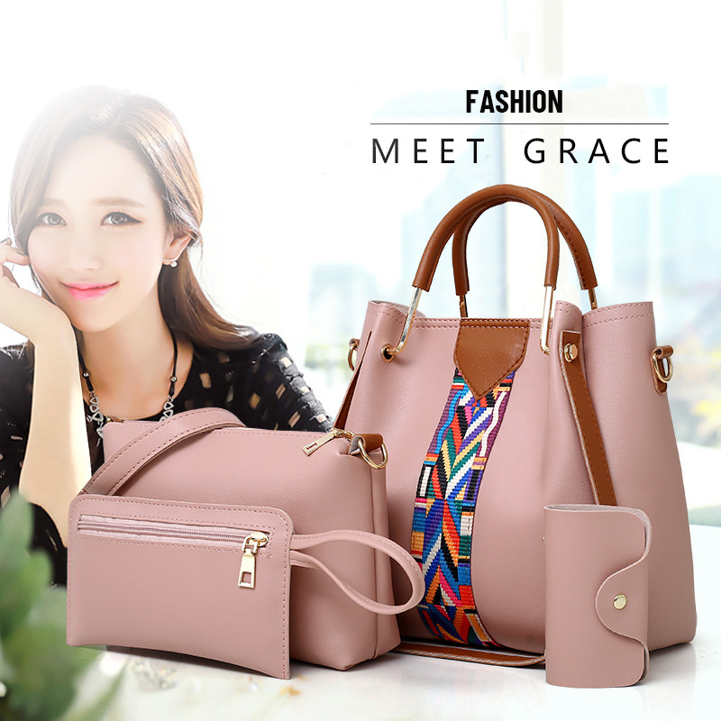 Fashion Cheap Price Lady Handbag Women Bag sets PU Handbags 4 Pcs in 1 Set