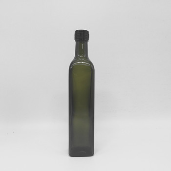 Hot Sale 100ML-1000ML Glass Olive Oil Bottles Clear And Dark Green Color With Cap