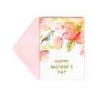 Hot Sale Shiny Glitter Mother's Day Cards, Watercolor Flower and Bird Greeting Cards