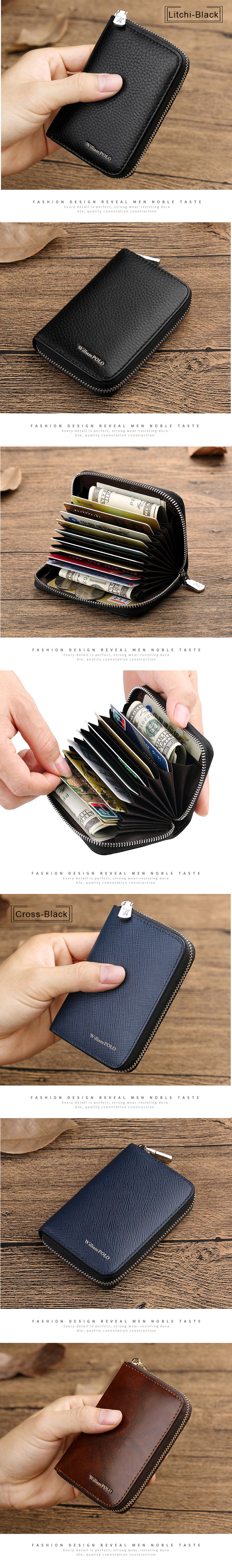 Factory Men Short Wallet Leather Purse For Man Coin RFID Custom Mutil Card Slot Holder Black Wallets Men