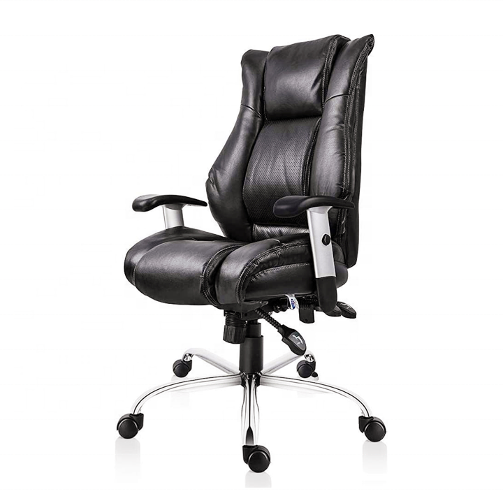 USA Stock Ergonomic Thick pad Height Adjustable Bonded Leather office chair with good office chair price