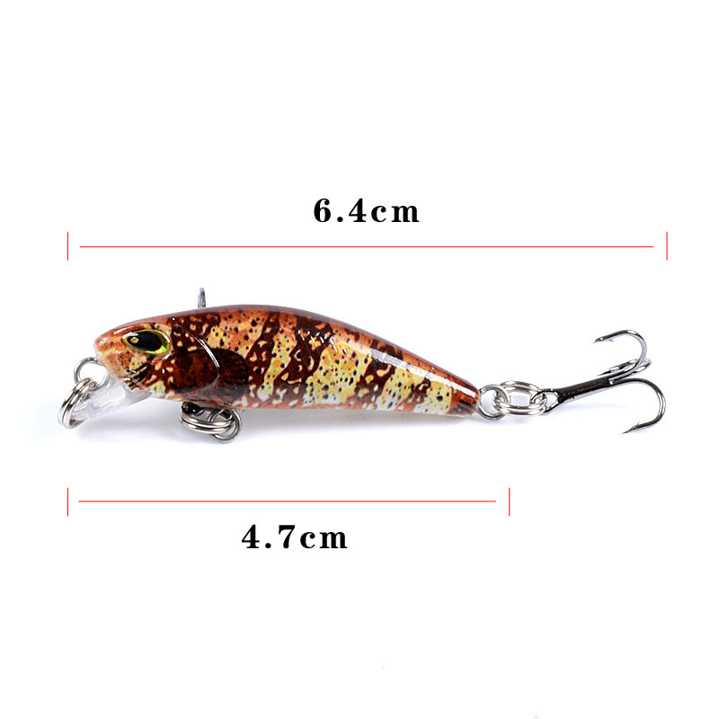 Minnow lure baits fishing rattle