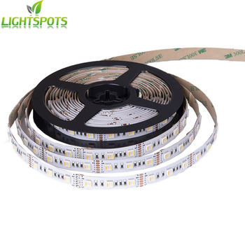 Factory 3 Years Warranty 24V 5 in 1 Chip Rgbww 60LEDs Full Colored SMD 5050 Led Strip