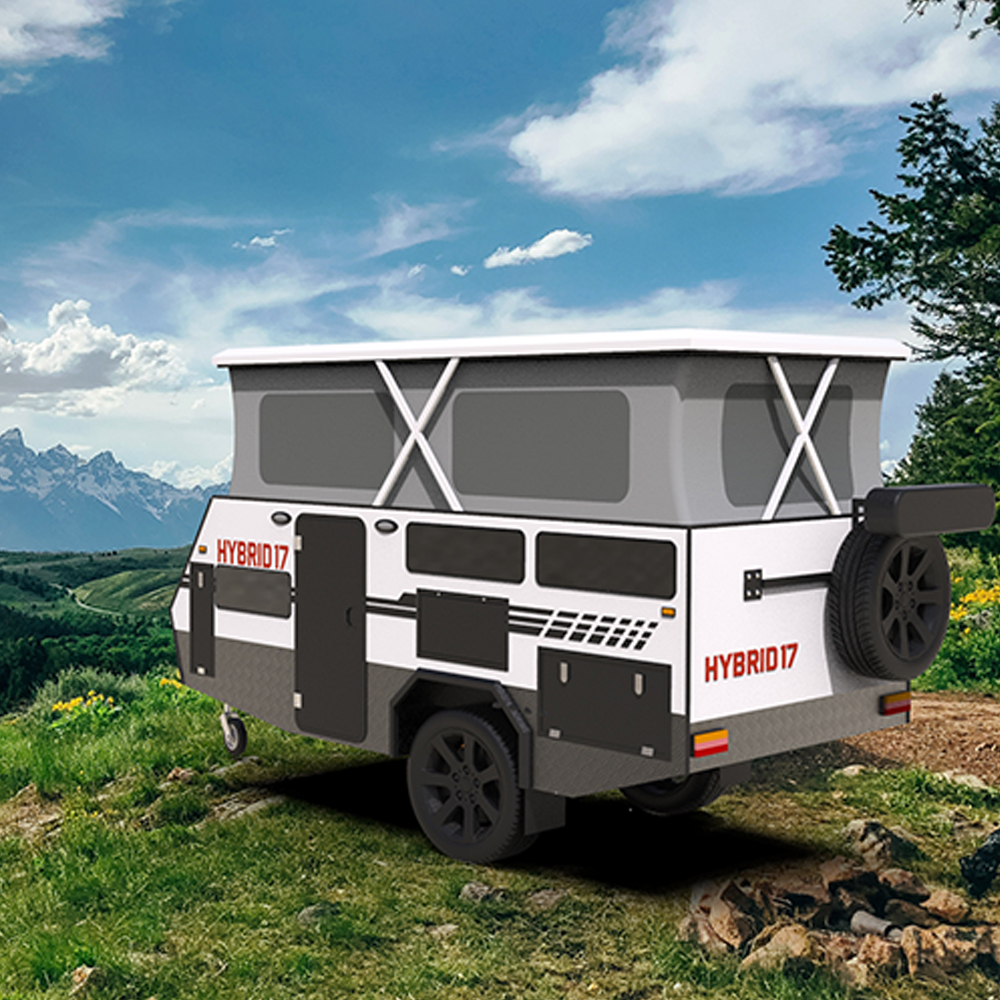 Australian standards pop top up 4x4 offroad RV off road motorhomes camper trailer hybrid caravan for sale