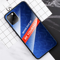 Hot Selling Anti Shock Glass Cover Mobile Phone Case for iPhone 11 11 Pro 11 Pro Max XS XR XS Max 6 7 8, for iPhone 11 Pro Case